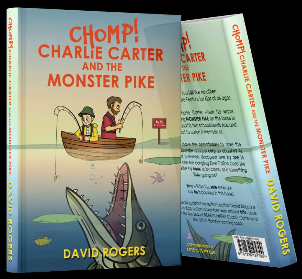 Chomp Charlie Carter And The Monster Pike Book Mock Up New